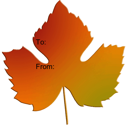 free gift tag a simple maple leaf is displayed on this printable gift ...