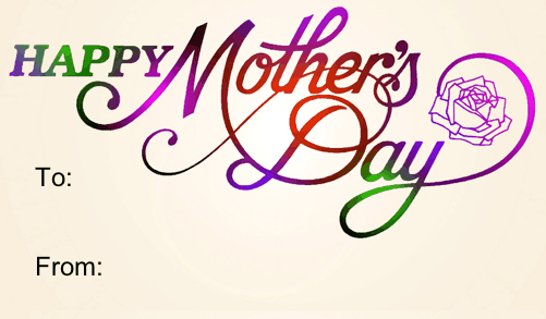 Mother S Day Tags: Happy Mother's Day Printable Gift Tag