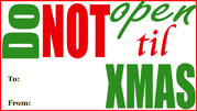 Do Not Open Gift Tag gift tag