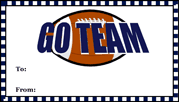 Go Team Football Gift Tag gift tag